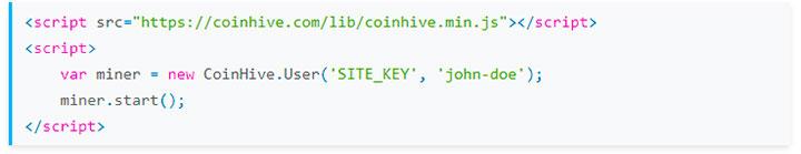 как выглядит скрипт от coinhive